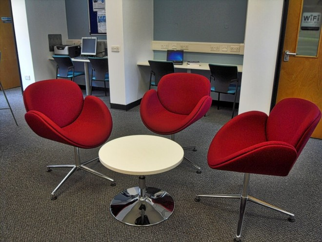 Low Table at Croydon Health Services Library image ©2015 cubecolour